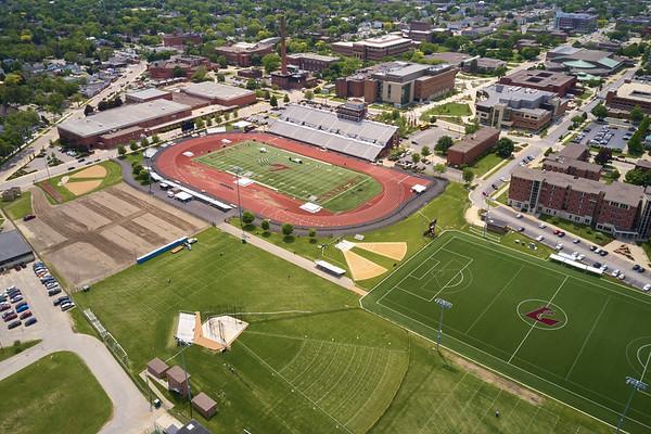 2019 UWL WIAA State Track Roger Harring Field Facilities Drone 0057
