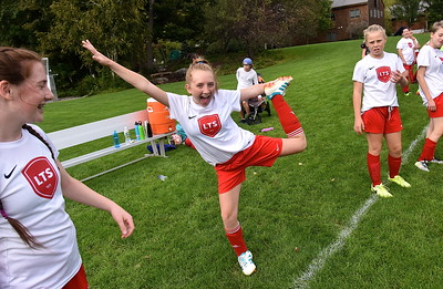 LTS M.S. Girls Soccer Put On Their Game Faces photos by Gary Baker