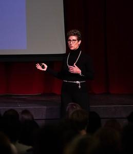 Lisa Luckett speaks during Morning Meeting
