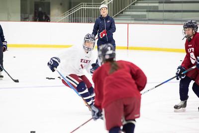 Olympian Meghan Duggan girls hockey clinic