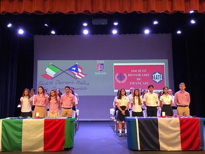 2018-2019 French & Italian Honor Societies Induction Ceremony