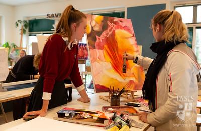 Classes in the Ferit Sahenk Fine Arts Building