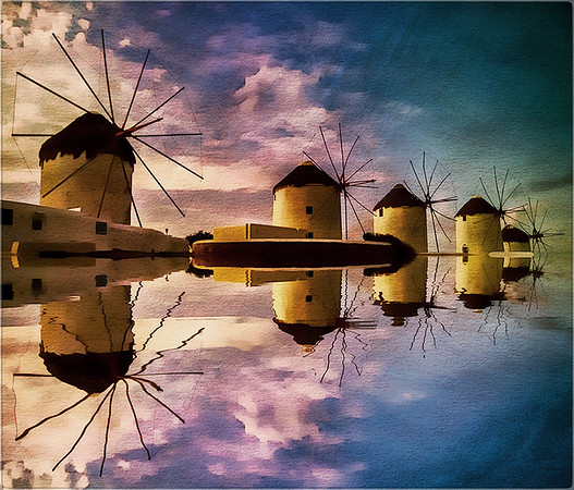 windmills mykonos - Anastasia Tompkins - PSA Score 15- Award of Merit