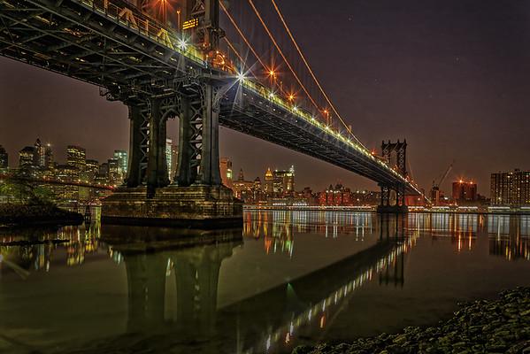 Manhattan Bridge at Dawn-Gary Emord PSA Score 9