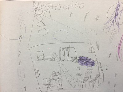 Kindergarten Labatut-Inspired House Drawings