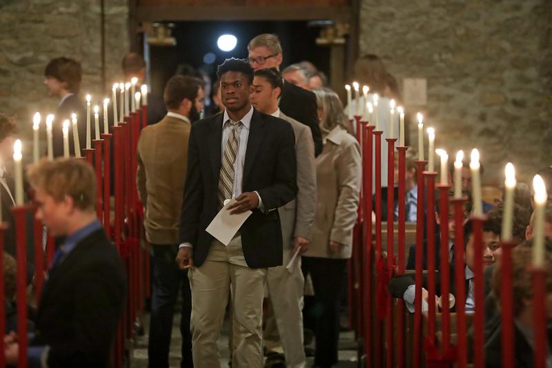 Chapel Service at the Blue Ridge School. Photo/Andrew Shurtleff Photography, LLC