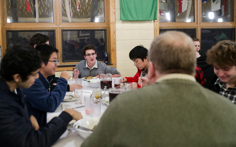 Thanksgiving Dinner at Blue Ridge School Nov. 15, 2018. Photo/Andrew Shurtleff Photography, LLC