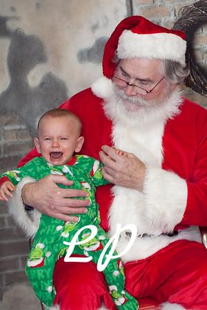 Cardinal Santa Christmas and 9 mo (9 of 23)