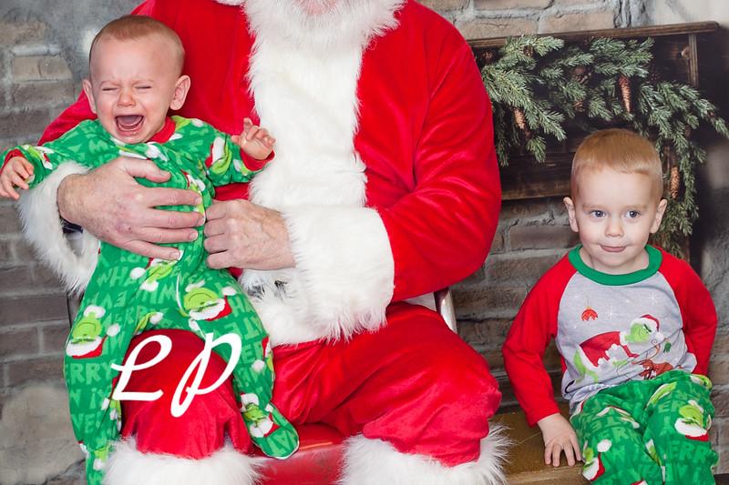 Cardinal Santa Christmas and 9 mo (8 of 23)