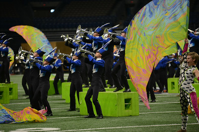 Leander High School competes in the final round of the 6A UIL State Marching Band Championship, Tuesday, Nov. 6, 2018. The Lions ended their season by earning fifth place in the competition.