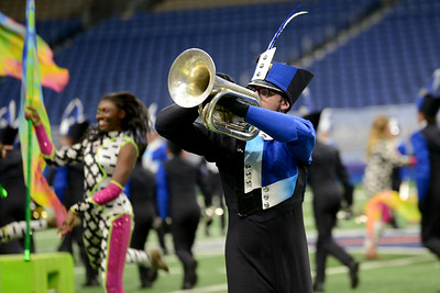 "The Leander High School marching band performs its show, ""Polarity"" in the preliminary round of the UIL State Marching Band competition Monday, Nov. 5, 2018."