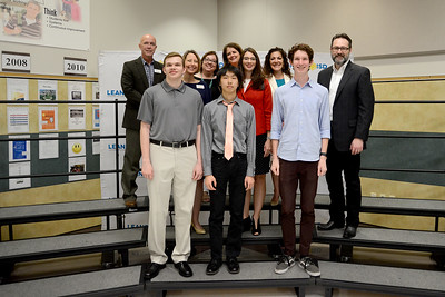 Leander High School's Lucas Judy, Vandegrift High School's Pierce Lai and Vista Ridge High School's Luke Hammond, recognized for earning perfect scores on the ACT exam.