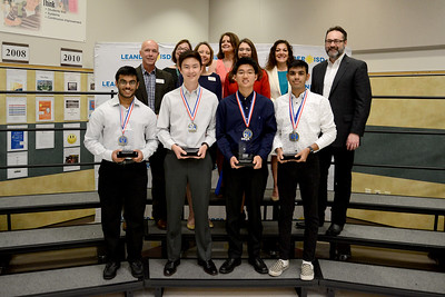 Students from Cedar Park High School are recognized for their accomplishment at DECA's International Career Development Conference. CPHS had two qualifying teams. Pictured are members of the Buying and Merchandising Operation Research Team.