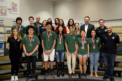 Vandegrift High School's ViperBots Ouroboros robotics team, recognized for advancing to the FIRST Robotics World competition in the FTC division.