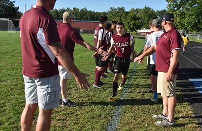 AMHS Boys Varsity Soccer vs BBA I photos by Gary Baker