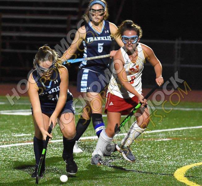 Franklin @ North Attleboro field hockey action (HockomockSports.com photo)
