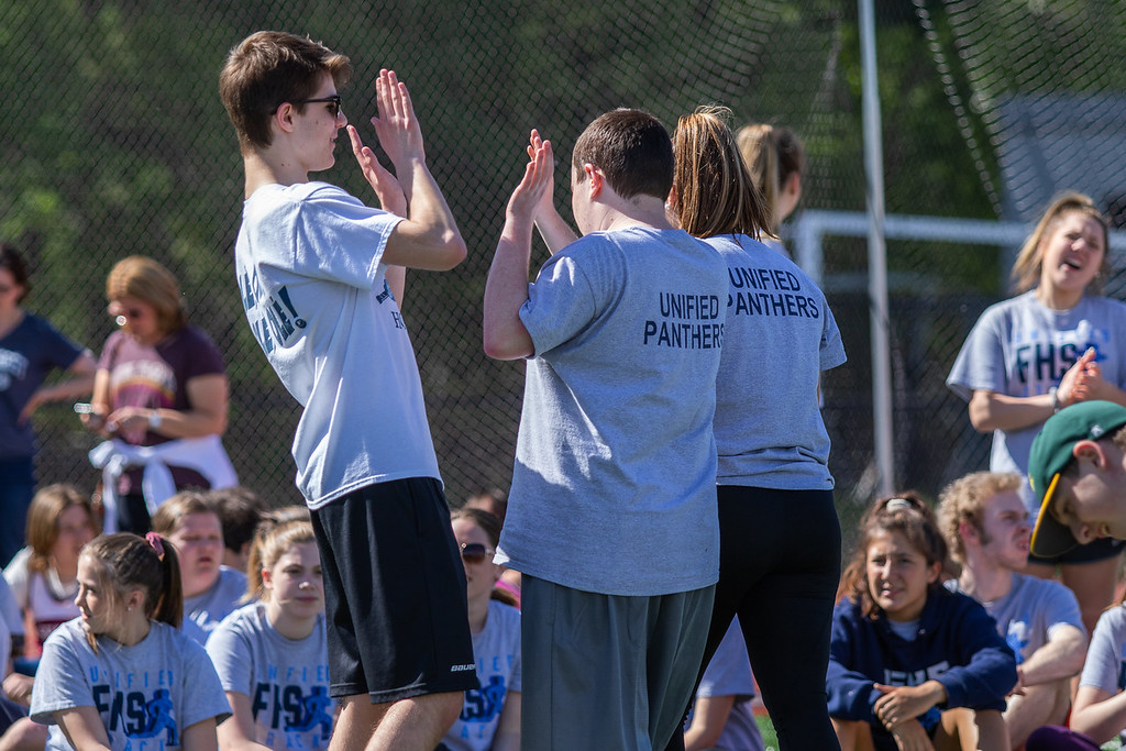 Photo from the Hockomock Unified Track meet (HockomockSports.com photo)