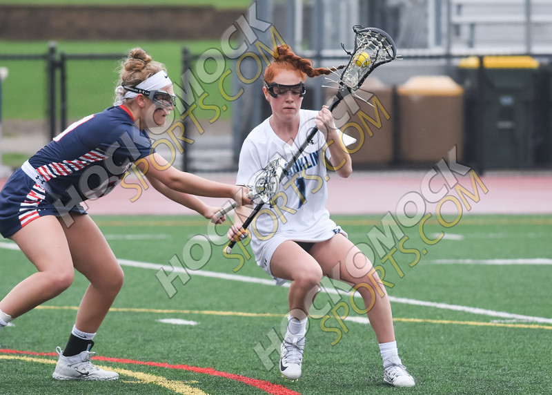 Erin Walsh looking to move on her defender (HockomockSports.Com Photo)