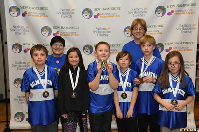 130-95769 ,Gilmanton School, The 16 Blue Kids Group, Gilmanton, NH, Technical Challenge- On Target, Elementary Level, 3rd place.