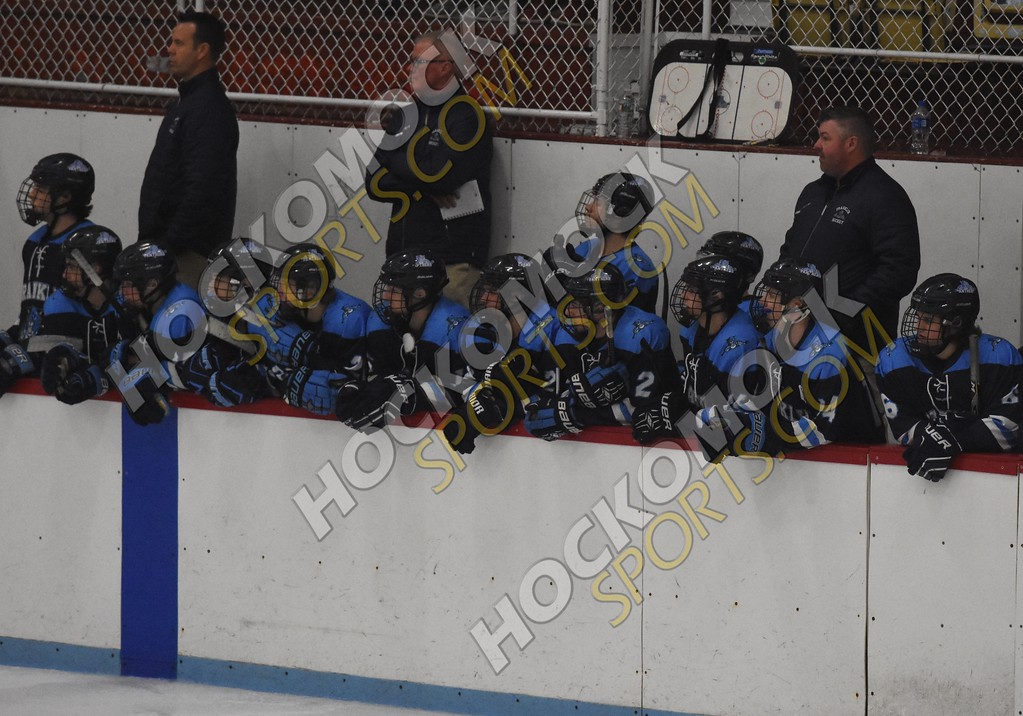 FHS bench watching the action on the ice (HockomockSports.com photo)