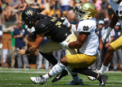 Wake Forest vs Notre Dame Football Photos - 9.22.18