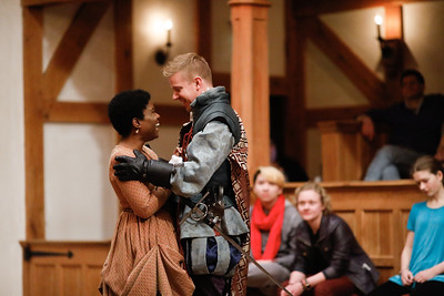 Shunté Lofton as Ophelia and Benjamin Reed as Laertes in HAMLET.  Photo by Lindsey Walters.