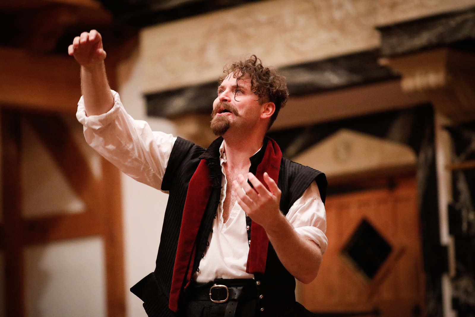 Josh Innerst as Hamlet in HAMLET.  Photo by Lindsey Walters.