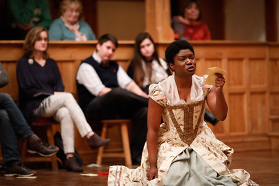 Shunté Lofton as Ophelia in HAMLET.  Photo by Lindsey Walters.