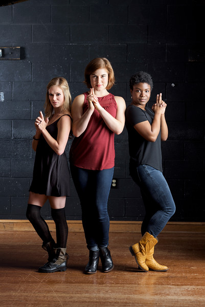 Lauren Ballard, Allie Babich, and Shunté Lofton.  Photo by Michael Bailey.