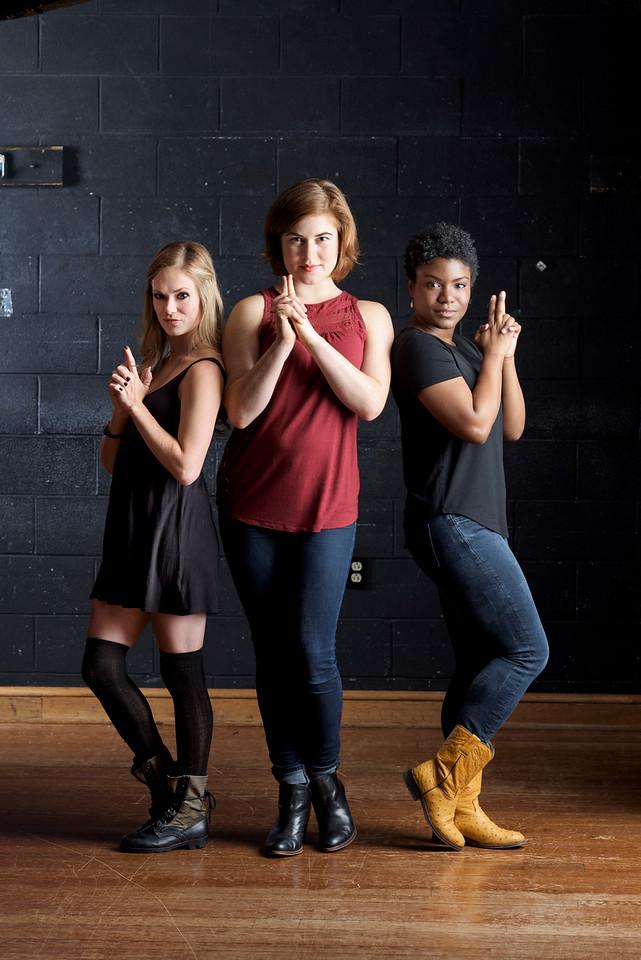 Lauren Ballard, Allie Babich, and Shunté Lofton.  Photo by Michael Bailey.
