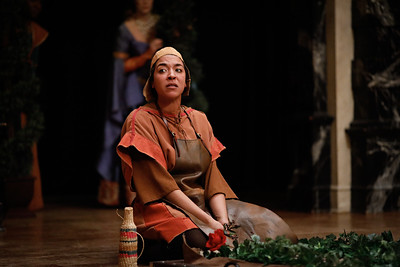 Jessika Williams as Gardener in RICHARD II.  Photo by Lindsey Walters.