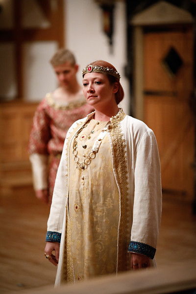 Sarah Fallon as Richard II in RICHARD II.  Photo by Lindsey Walters.