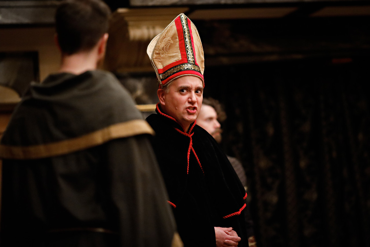 Christopher Seiler as Bishop of Carlisle in RICHARD II.  Photo by Lindsey Walters.