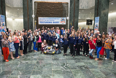 Participants and vendors from the Ag. Day Featuring Dairy raised their glass to June Dairy Month, the biggest dairy toast Albany has ever seen!