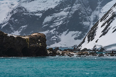 Point Wild, Elephant Island, named after Frank Wild, second in command of the Imperial Trans-Antarctic Expedition, who kept 21 men alive on this rock, surviving on a diet of penguins, seals, and seaweed for over 4 months.