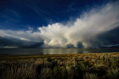 DA099,DT, Storm cloud over the Great Salt Lake, Utah
