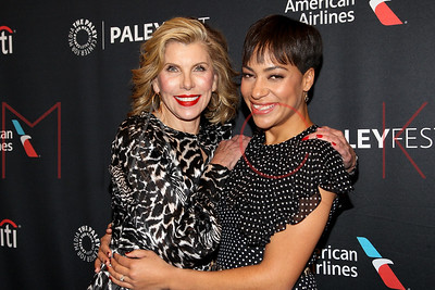 """New York, NY - October 15 2018:  The Monday, Oct 15, 2018 PaleyFest New York screening of """"The Good Fight"""" at The Paley Center for Media."""
