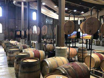 Barrel Auction setup at Charles Krug Winery.  Photo by Tony Albright for Napa Valley Vintners