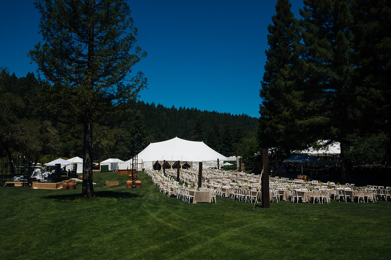 The beautiful setup at Meadowood Napa Valley - Auction Napa Valley Live Celebration