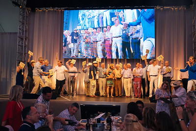 All past Napa Valley Vintners board chairs presenting Lot 17 - Auction Napa Valley Live Celebration