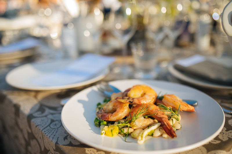 Dinner is served - Auction Napa Valley Live Auction Celebration