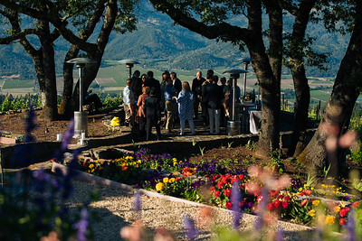 Guests enjoying the view at Barnett Vineyards Vintner Hosted Dinner
