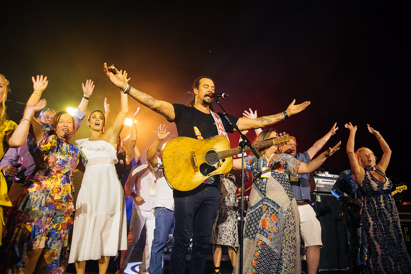 Danica Patrick and Michael Franti at Auction Napa Valley Live Auction Celebration