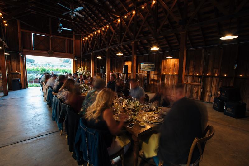 Dinner is served - Baldacci Family Vineyards and William Cole Vineyards Vintner Hosted Dinner