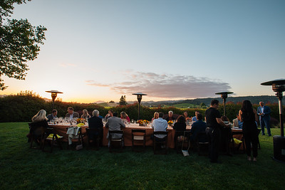 The table at sunset at Honig Vineyard and Winery Vintner Hosted Dinner