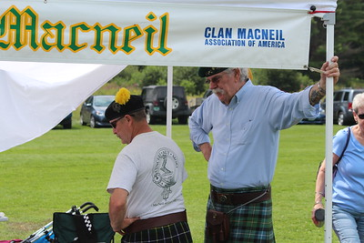 Bill Macniel (left) and John Hoefner, of the Clan Macneil