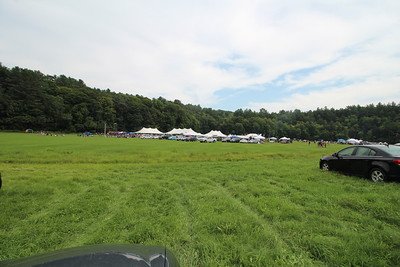 The View of Scottish Fest from the parking lot