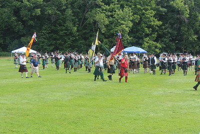 Members of the clans participate in the opening ceremony