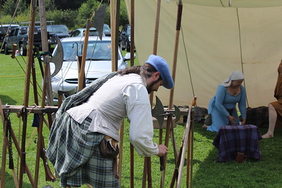 Kevin Stewart of Historic Highlanders Living History