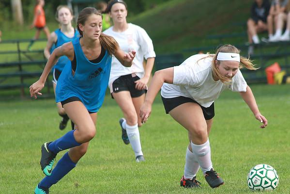 WUHS Girls Soccer Scrimmage 083018